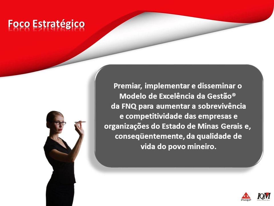 Premiar, implementar e disseminar o Modelo de Excelência da Gestão® da FNQ para aumentar a sobrevivência e competitividade das empresas e organizações