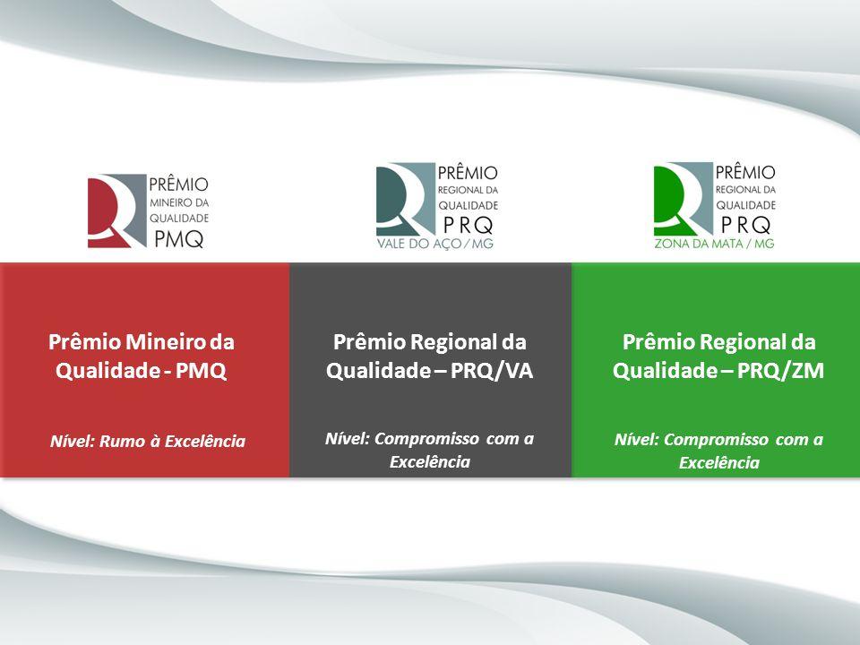 Prêmio Mineiro da Qualidade - PMQ Prêmio Regional da Qualidade – PRQ/VA Prêmio Regional da Qualidade – PRQ/ZM Nível: Rumo à Excelência Nível: Compromi