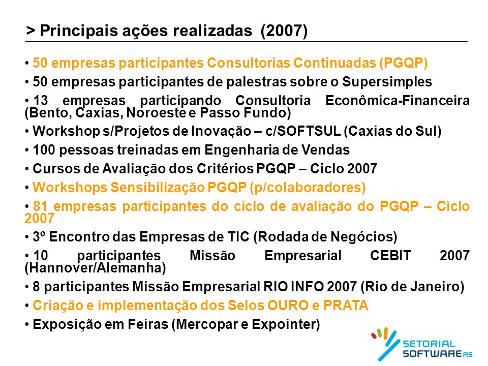> Evolução PGQP - Ciclos 2005 a 2007 – Todos os Grupos 80% 100% Liderança Estr.