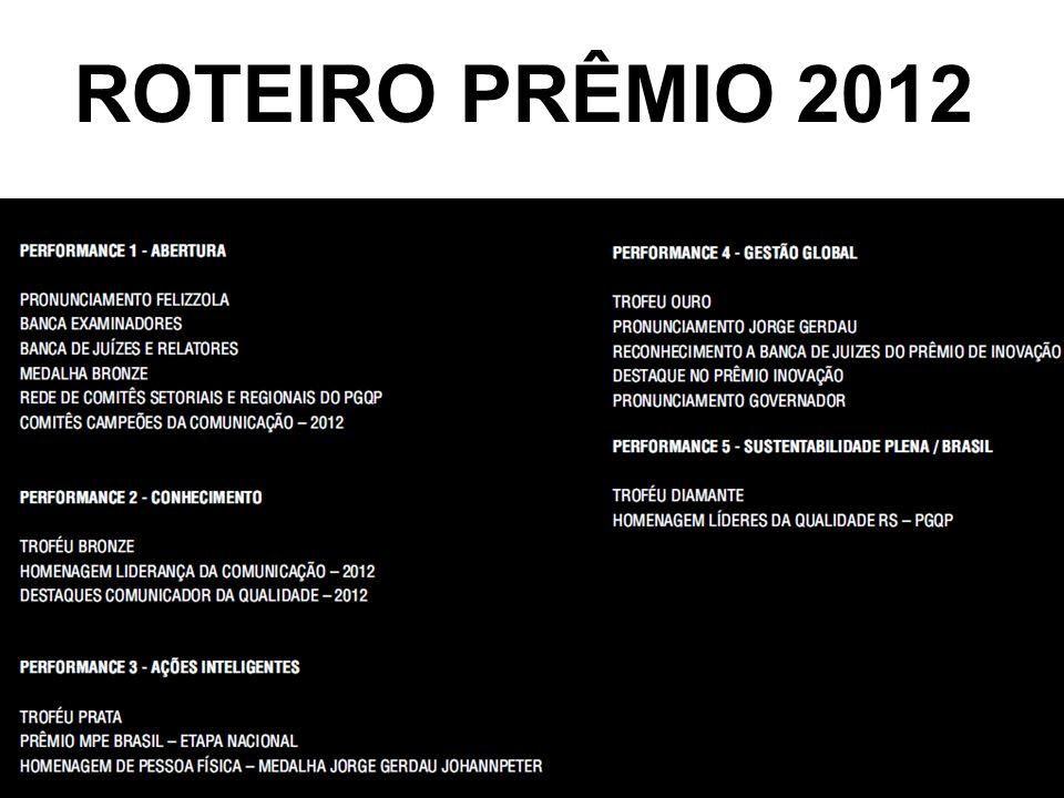 ROTEIRO PRÊMIO 2012