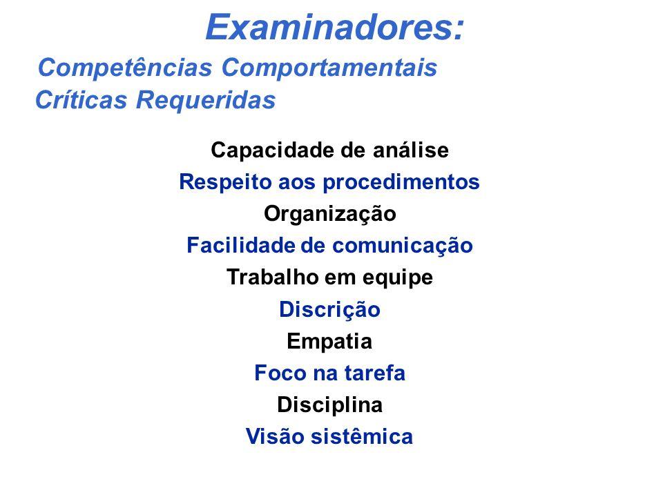 Vídeo com depoimentos de Examinadores Benefícios para os Examinadores