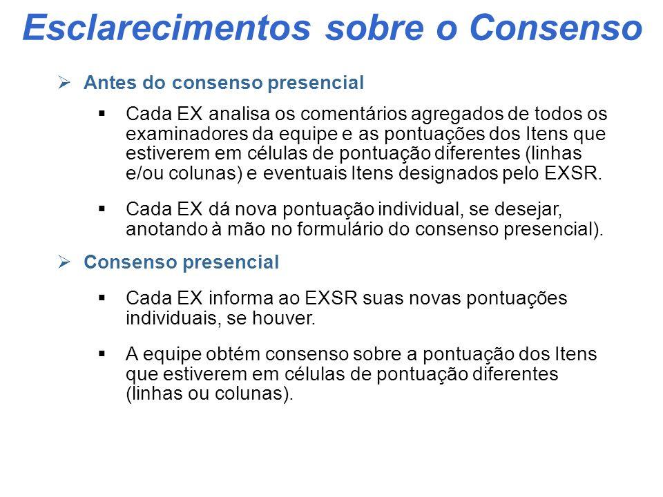 Etapa II - Atividades do Examinador 1.Agendamento de datas da Reunião de Consenso e da Visita com EXSR 2.Recebimento de dados REXs depurados do EXSR 3