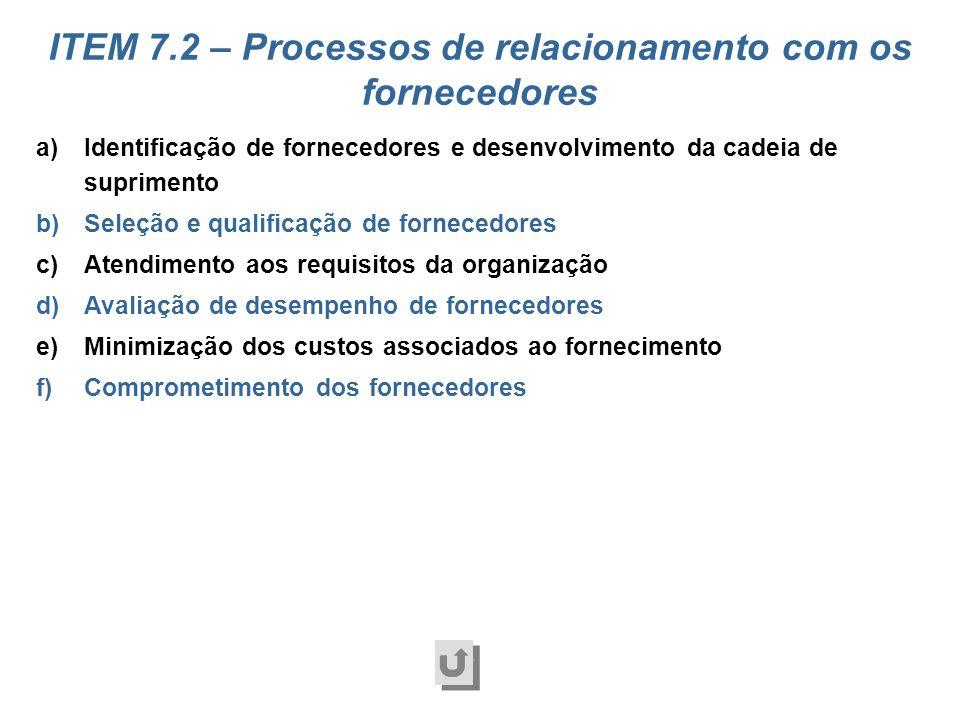 a)Identificação dos processos b)Determinação dos requisitos dos processos c)Projeto dos processos d)Gerenciamento dos processos e)Análise e melhoria d