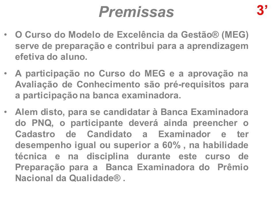 O Curso do Modelo de Excelência da Gestão® (MEG) serve de preparação e contribui para a aprendizagem efetiva do aluno.