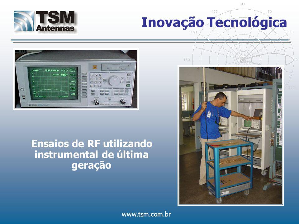 www.tsm.com.br Inovação Tecnológica Ensaios de RF utilizando instrumental de última geração