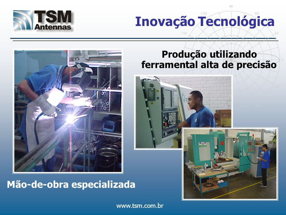 www.tsm.com.br Inovação Tecnológica Produção utilizando ferramental alta de precisão Mão-de-obra especializada
