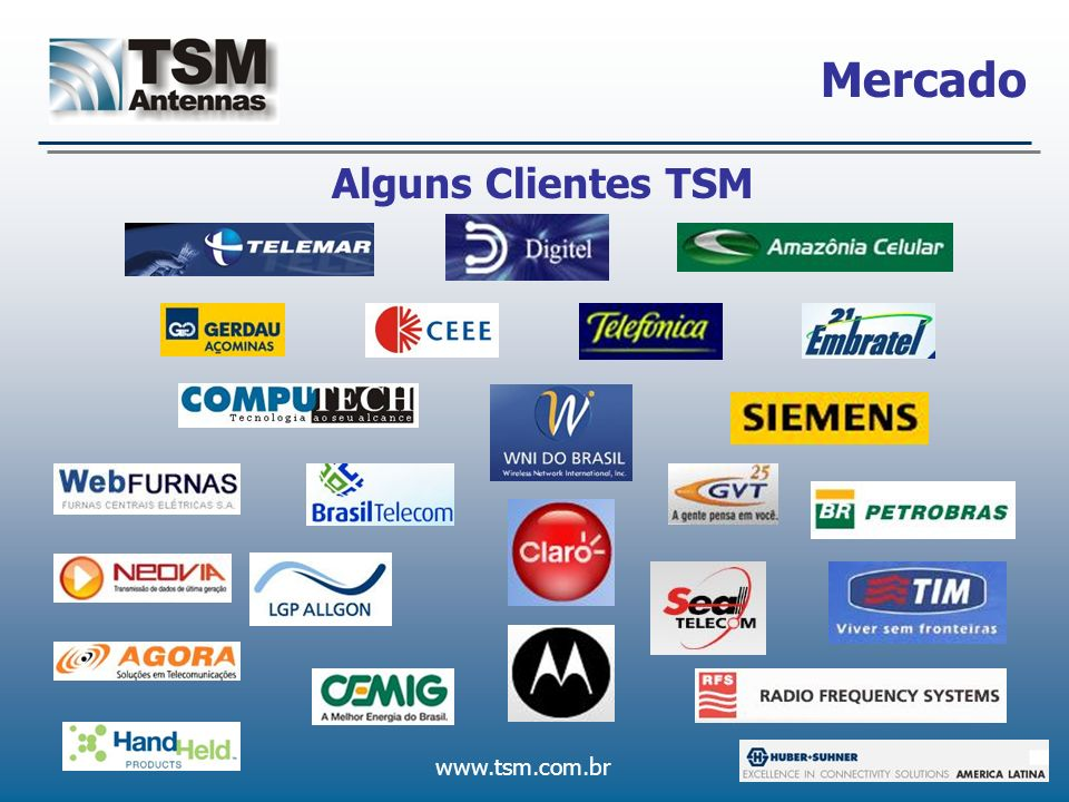 www.tsm.com.br Mercado Alguns Clientes TSM