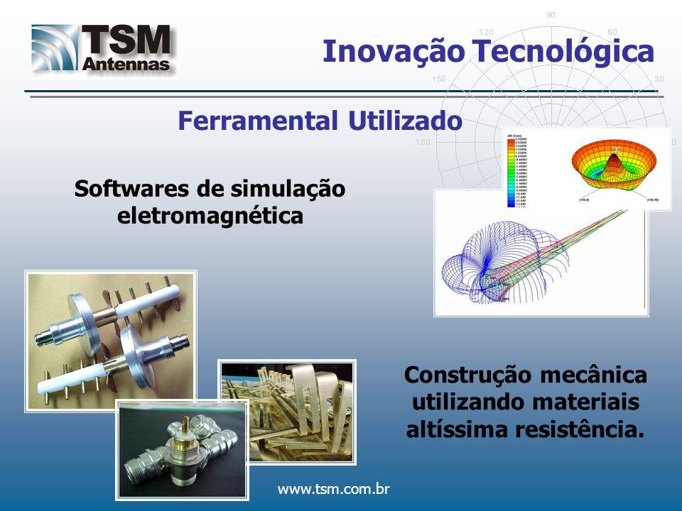 www.tsm.com.br Inovação Tecnológica Ferramental Utilizado Softwares de simulação eletromagnética Construção mecânica utilizando materiais altíssima re