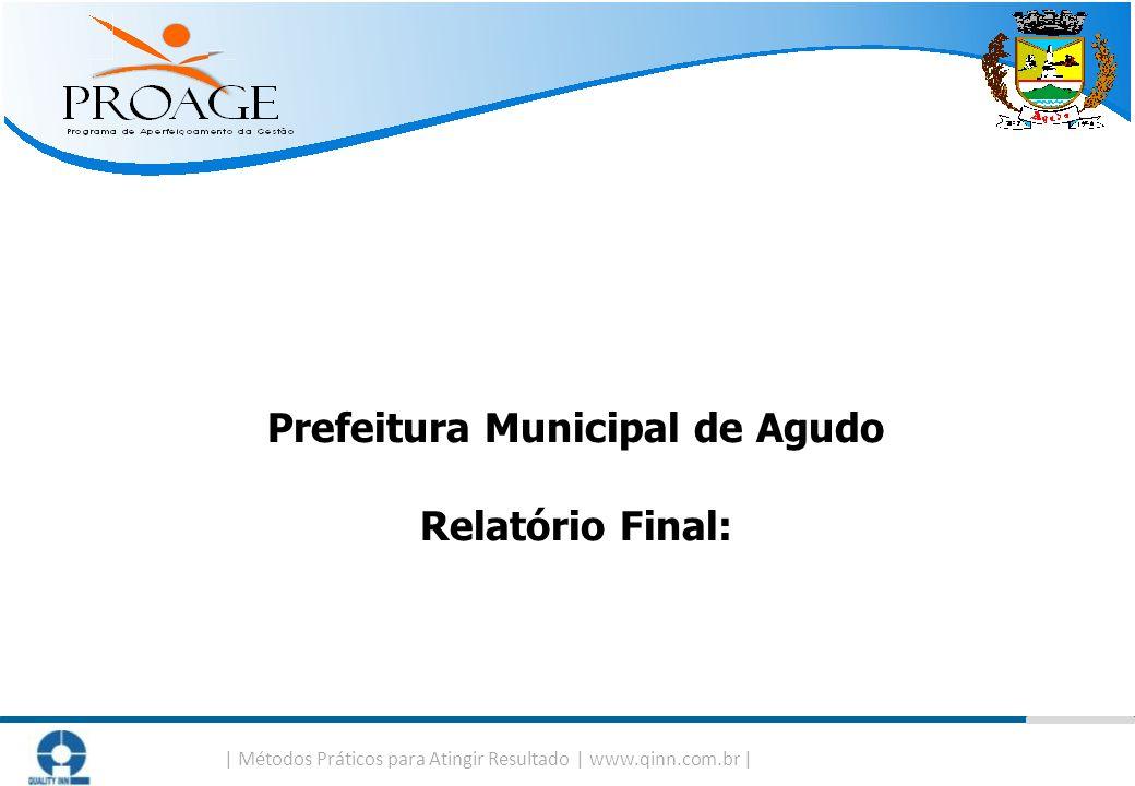   Métodos Práticos para Atingir Resultado   www.qinn.com.br   Prefeitura Municipal de Agudo Relatório Final: