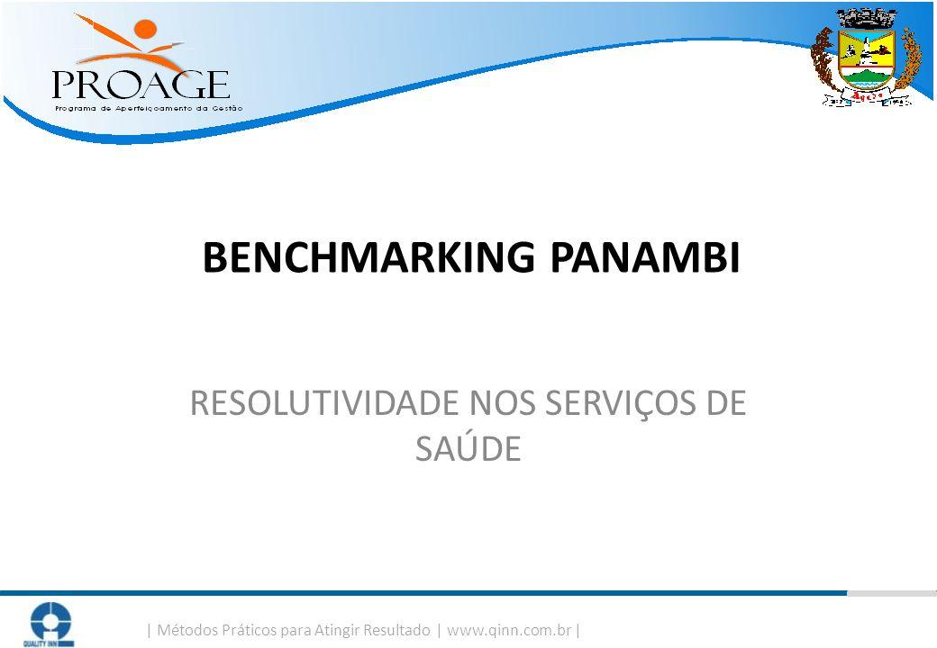   Métodos Práticos para Atingir Resultado   www.qinn.com.br   BENCHMARKING PANAMBI RESOLUTIVIDADE NOS SERVIÇOS DE SAÚDE
