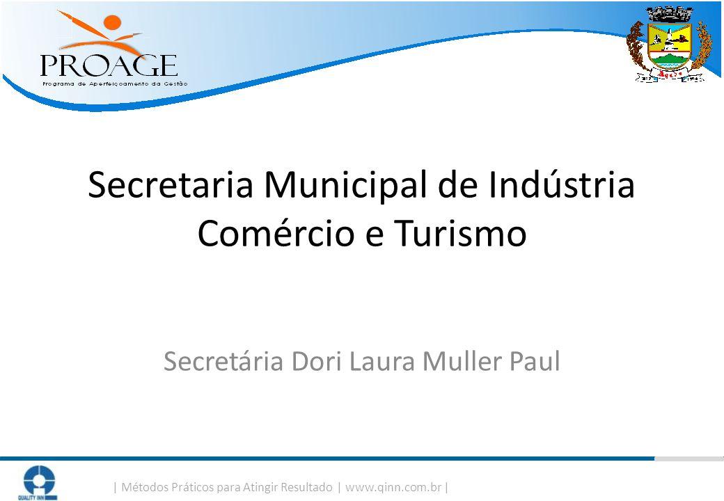   Métodos Práticos para Atingir Resultado   www.qinn.com.br   Secretaria Municipal de Indústria Comércio e Turismo Secretária Dori Laura Muller Paul