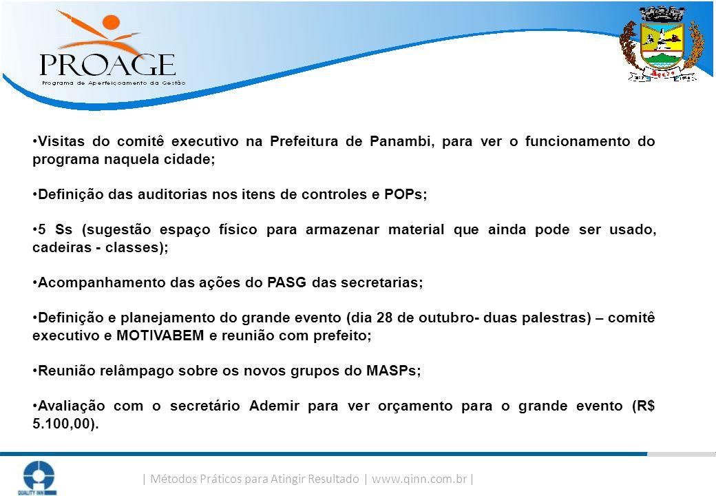   Métodos Práticos para Atingir Resultado   www.qinn.com.br   Visitas do comitê executivo na Prefeitura de Panambi, para ver o funcionamento do progra