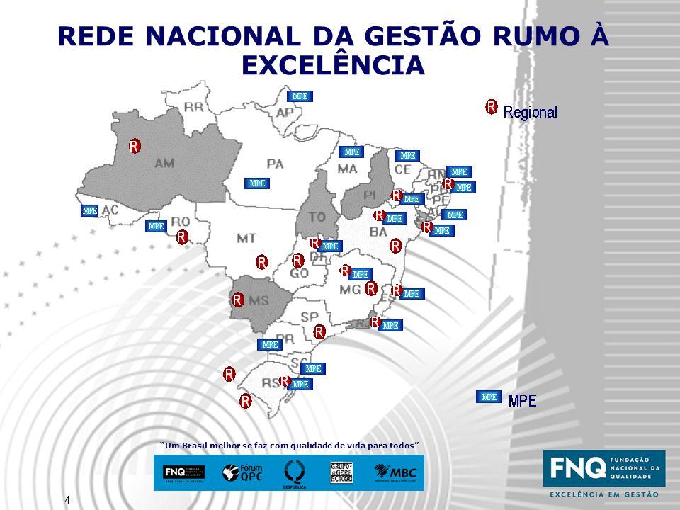 4 REDE NACIONAL DA GESTÃO RUMO À EXCELÊNCIA Um Brasil melhor se faz com qualidade de vida para todos