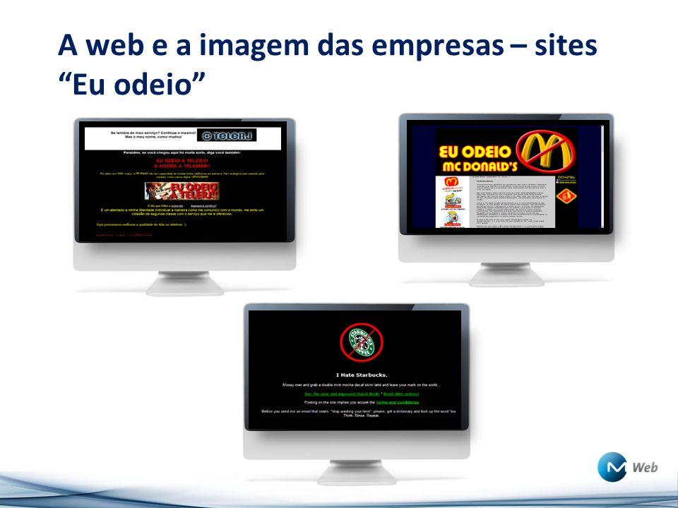 A web e a imagem das empresas – sites Eu odeio