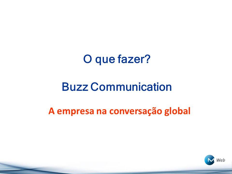 O que fazer? Buzz Communication A empresa na conversação global