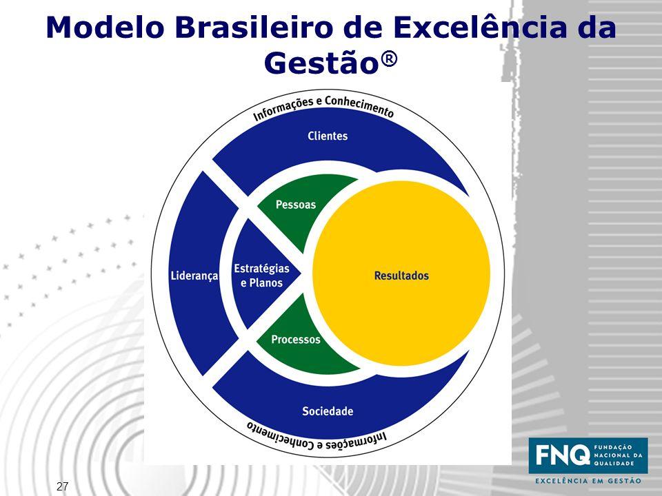 27 Modelo Brasileiro de Excelência da Gestão ®