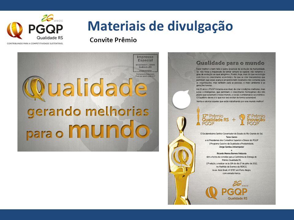 Materiais de divulgação Convite Prêmio