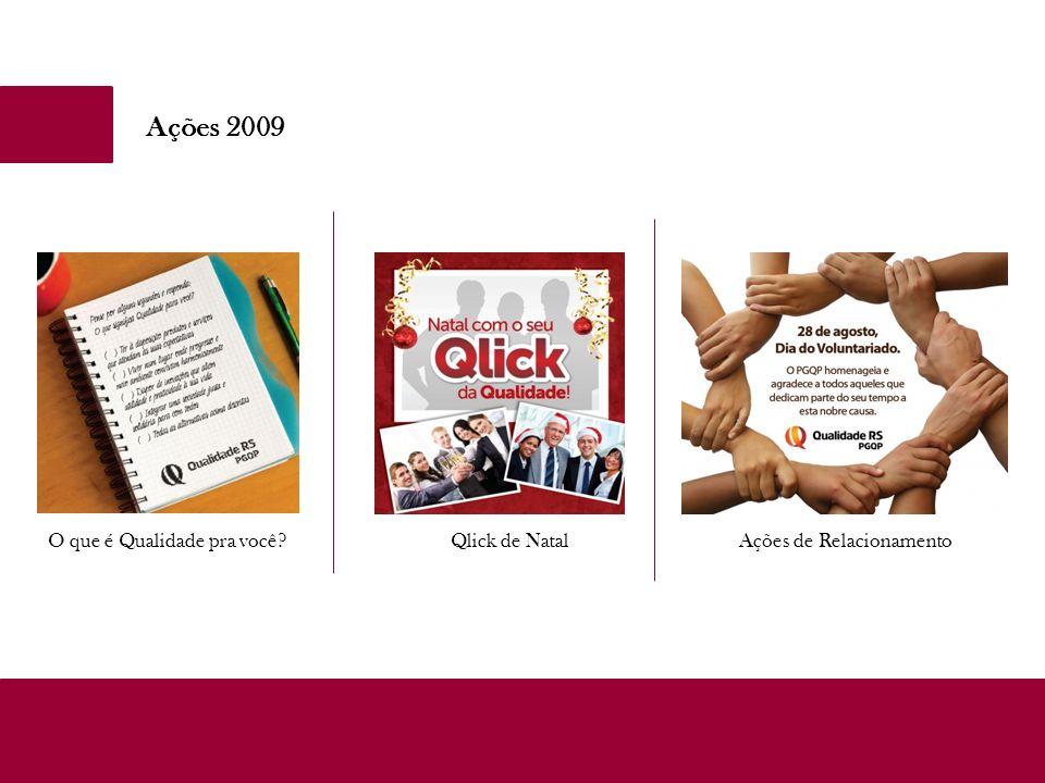 Ações 2009 O que é Qualidade pra você?Qlick de NatalAções de Relacionamento