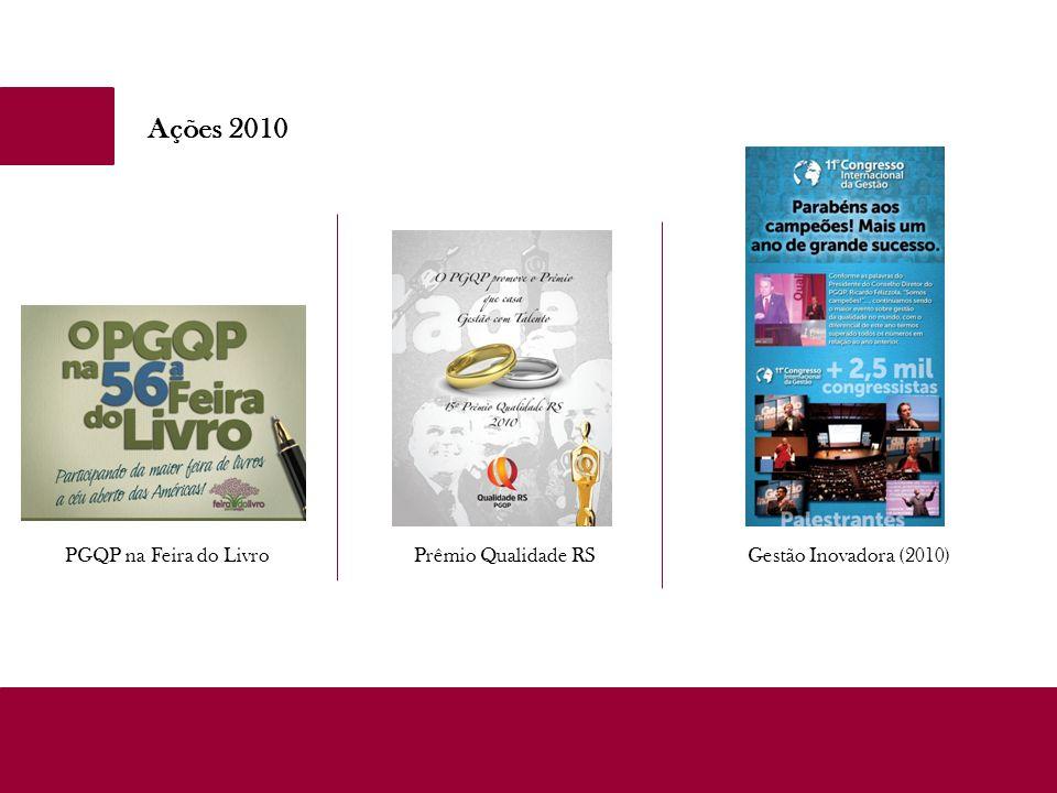 Ações 2010 PGQP na Feira do LivroPrêmio Qualidade RSGestão Inovadora (2010)