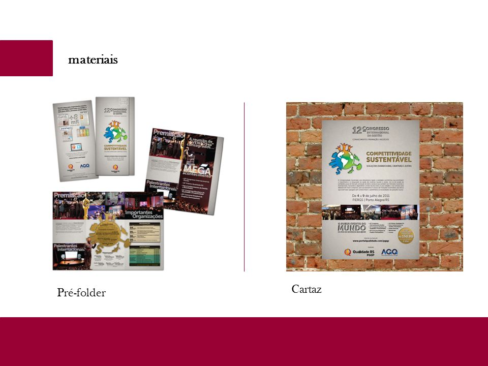 materiais Pré-folder Cartaz