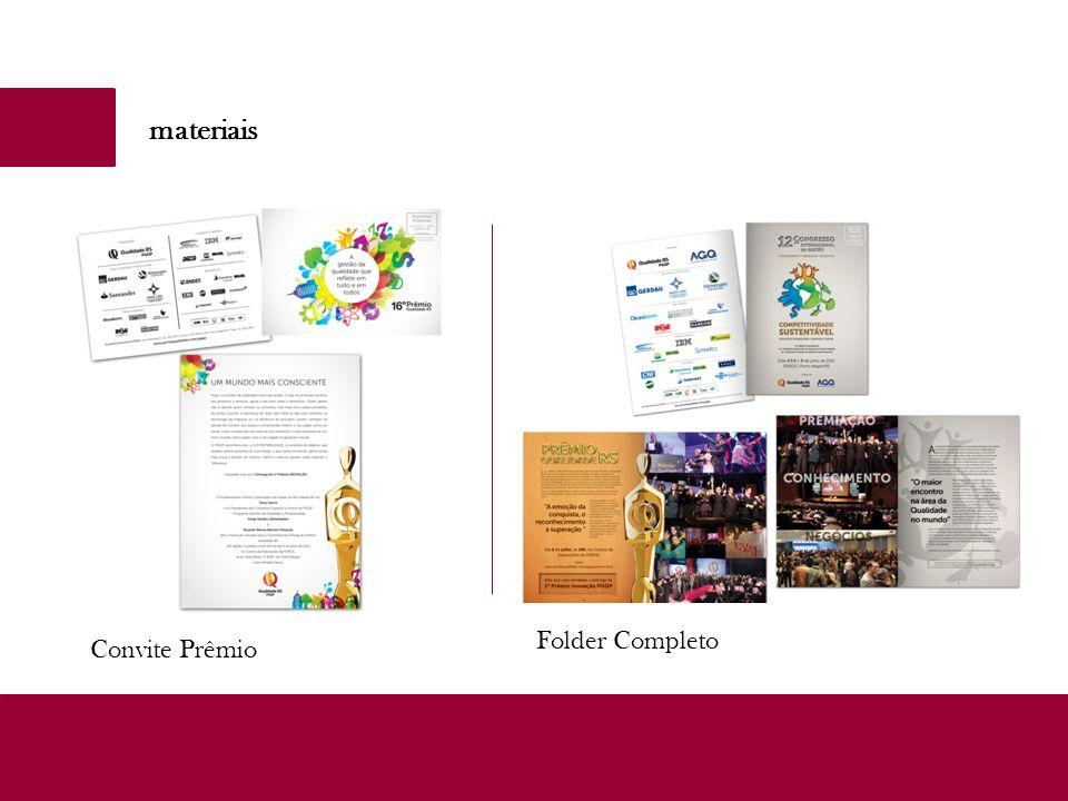 materiais Convite Prêmio Folder Completo