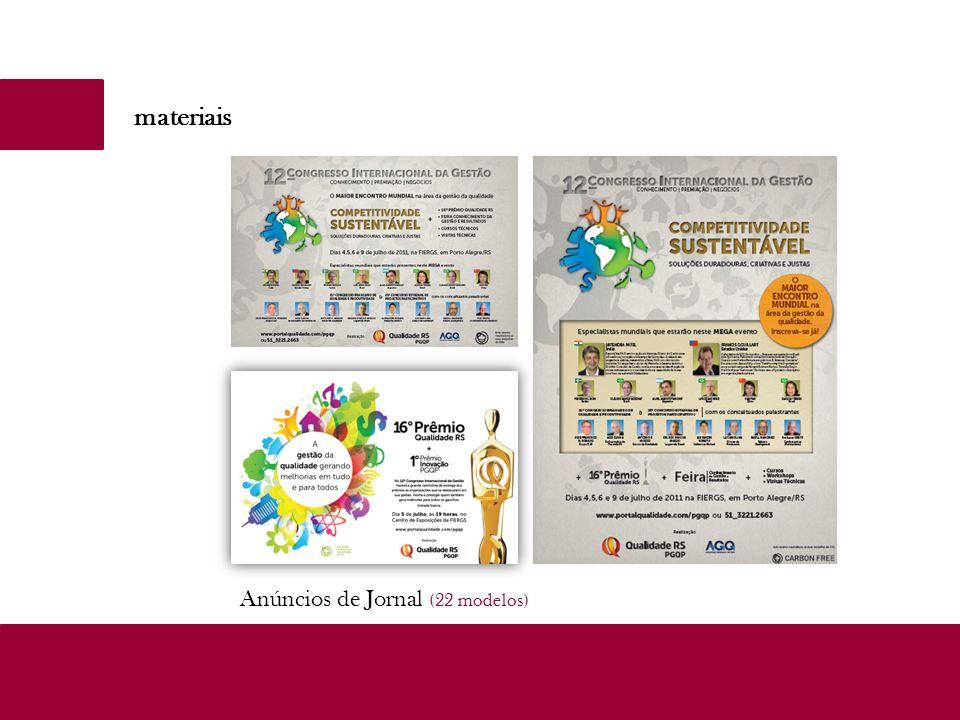 materiais Anúncios de Jornal (22 modelos)