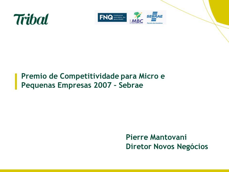 Premio de Competitividade para Micro e Pequenas Empresas 2007 – Sebrae | Pierre Mantovani Diretor Novos Negócios