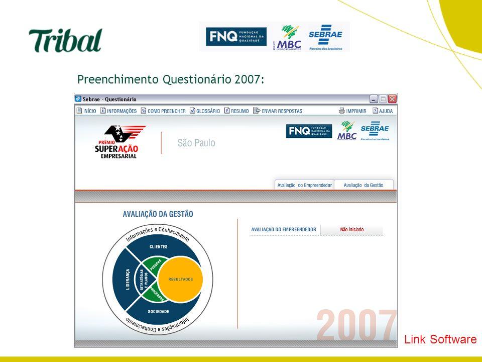 Preenchimento Questionário 2007: Link Software