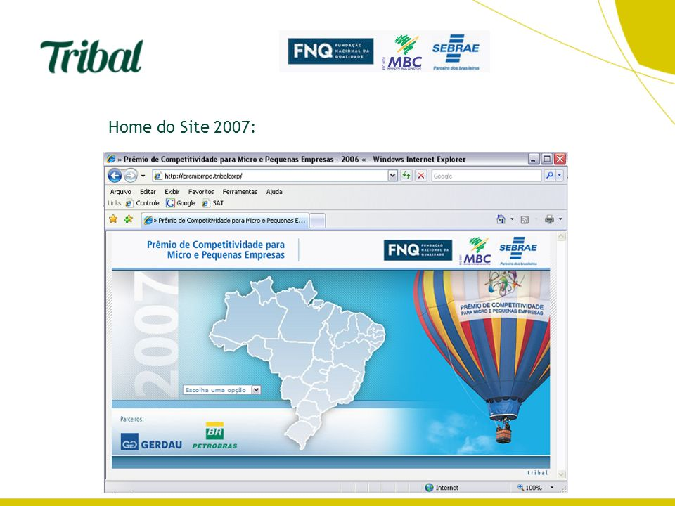 Home do Site 2007:
