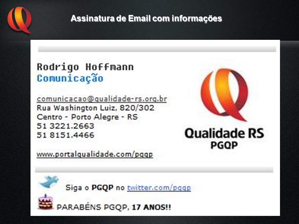 Assinatura de Email com informações