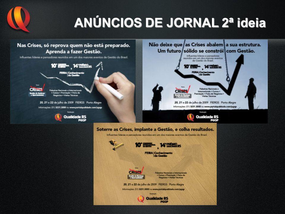 ANÚNCIOS DE JORNAL 2ª ideia
