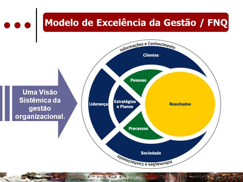 Modelo de Excelência da Gestão / FNQ Uma Visão Sistêmica da gestão organizacional.