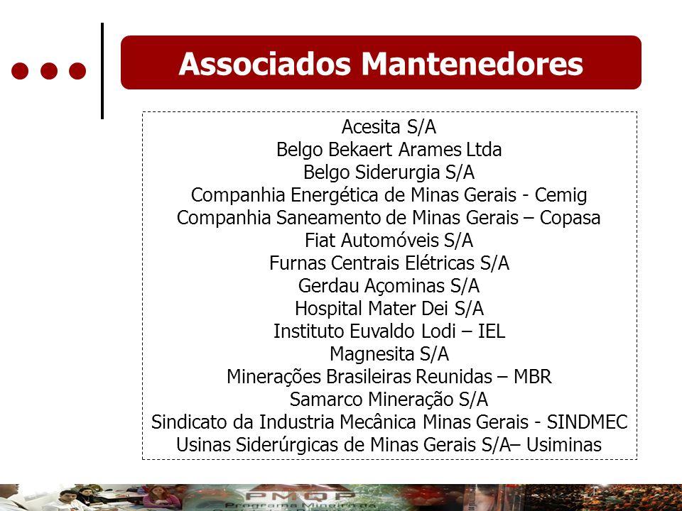 Associados Mantenedores Acesita S/A Belgo Bekaert Arames Ltda Belgo Siderurgia S/A Companhia Energética de Minas Gerais - Cemig Companhia Saneamento d