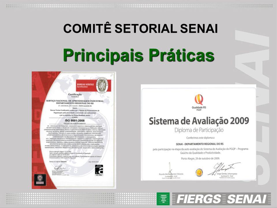 COMITÊ SETORIAL SENAI Principais Práticas