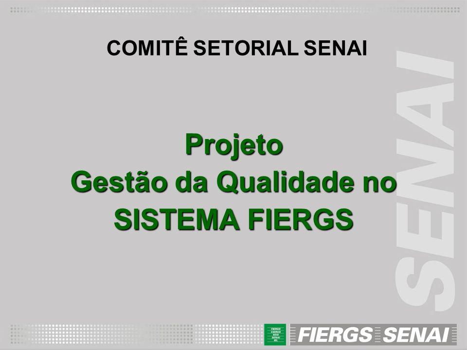 COMITÊ SETORIAL SENAI Projeto Gestão da Qualidade no SISTEMA FIERGS