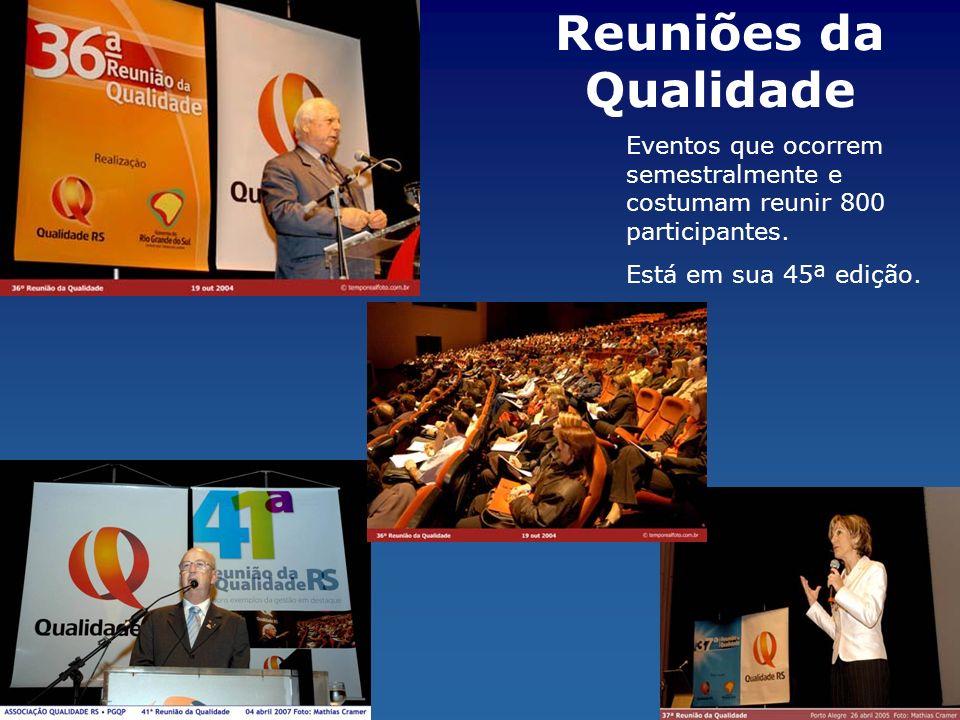 Reuniões da Qualidade Eventos que ocorrem semestralmente e costumam reunir 800 participantes. Está em sua 45ª edição.