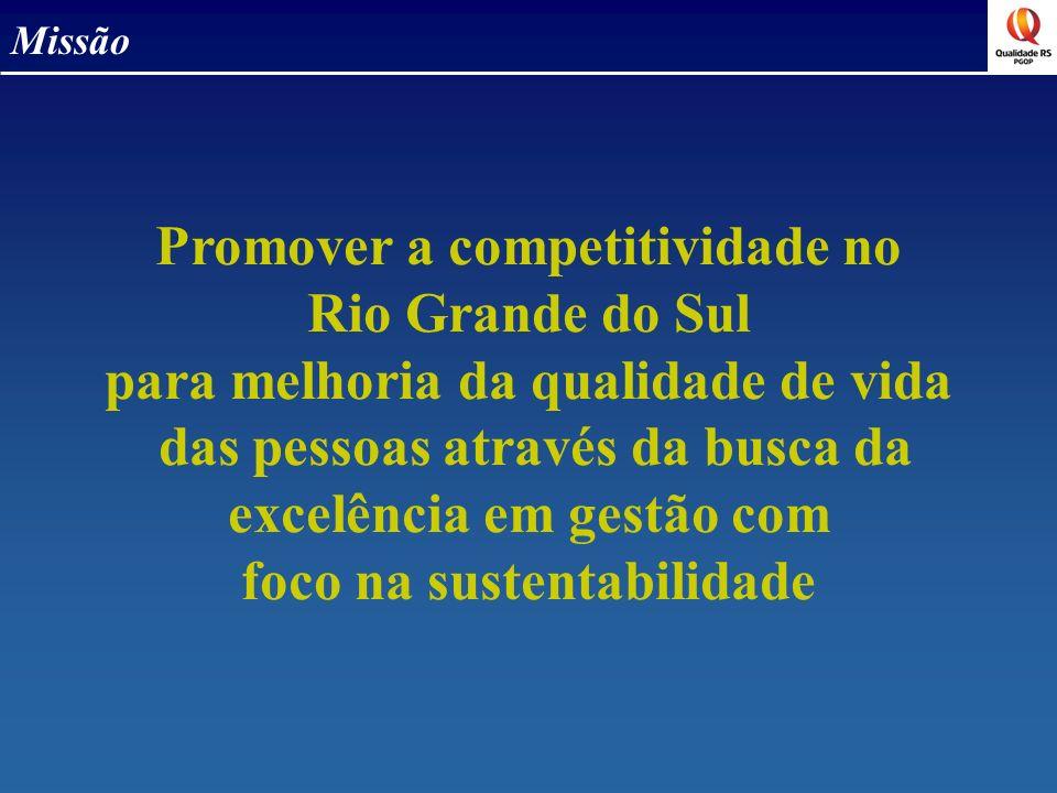 Promover a competitividade no Rio Grande do Sul para melhoria da qualidade de vida das pessoas através da busca da excelência em gestão com foco na su