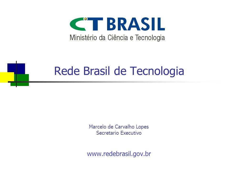 Rede Brasil de Tecnologia www.redebrasil.gov.br Marcelo de Carvalho Lopes Secretario Executivo