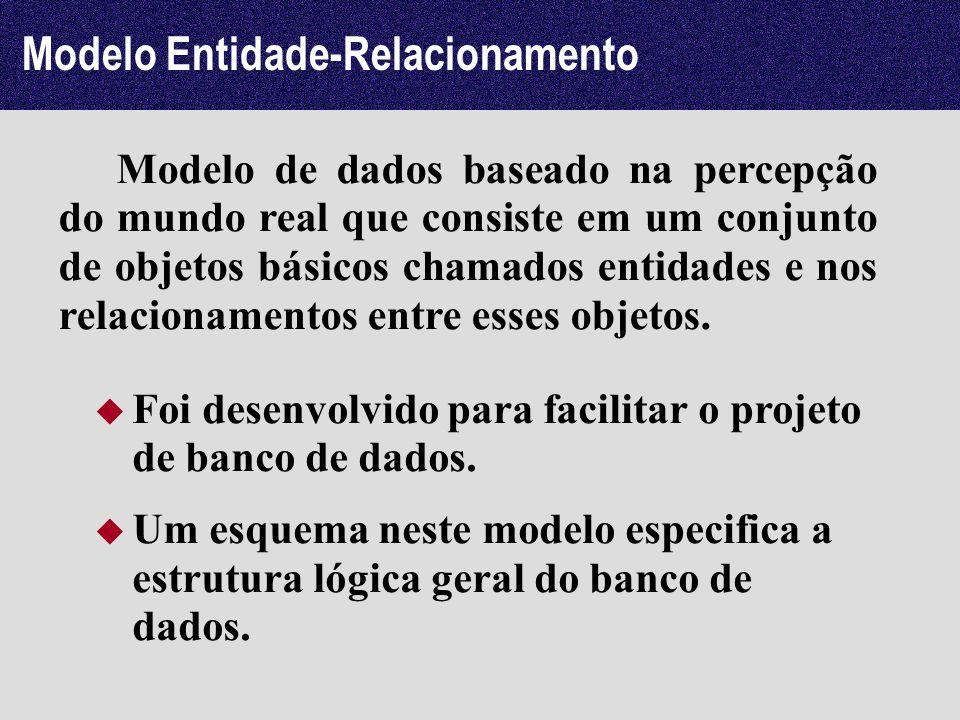 Modelo de dados baseado na percepção do mundo real que consiste em um conjunto de objetos básicos chamados entidades e nos relacionamentos entre esses