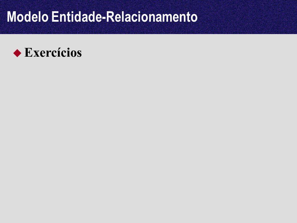 Modelo Entidade-Relacionamento Exercícios