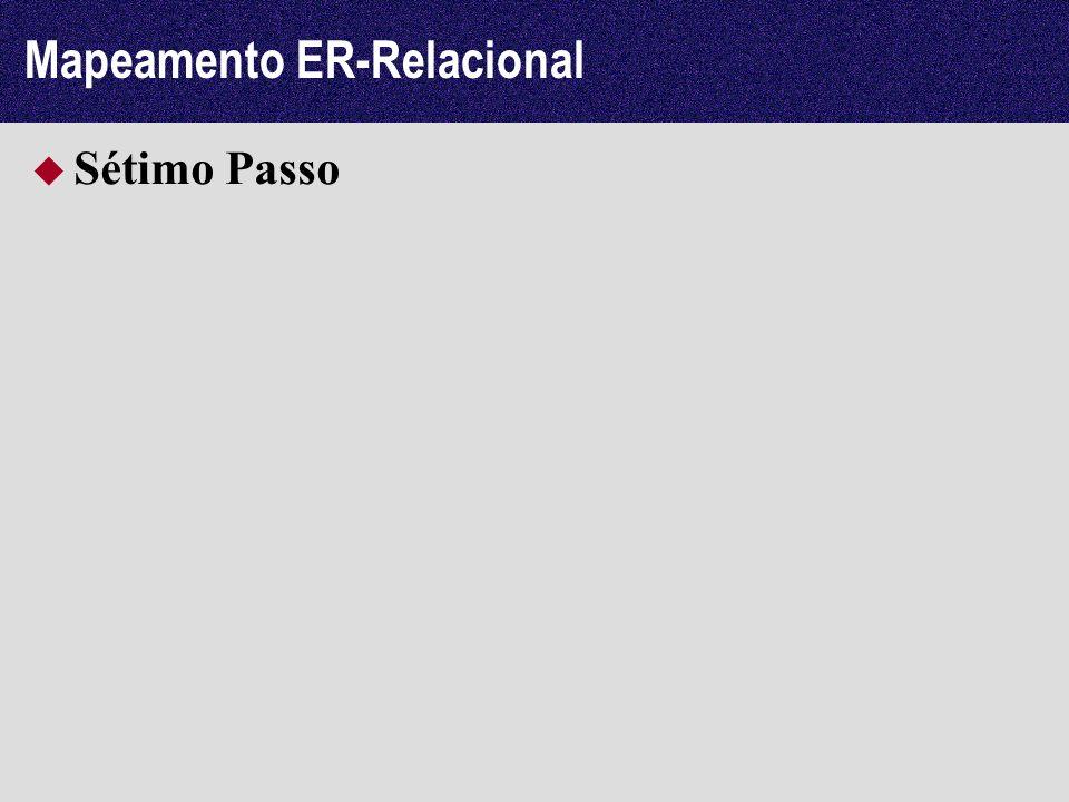 Mapeamento ER-Relacional Sétimo Passo
