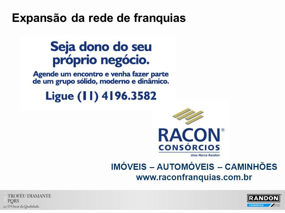Expansão da rede de franquias IMÓVEIS – AUTOMÓVEIS – CAMINHÕES www.raconfranquias.com.br