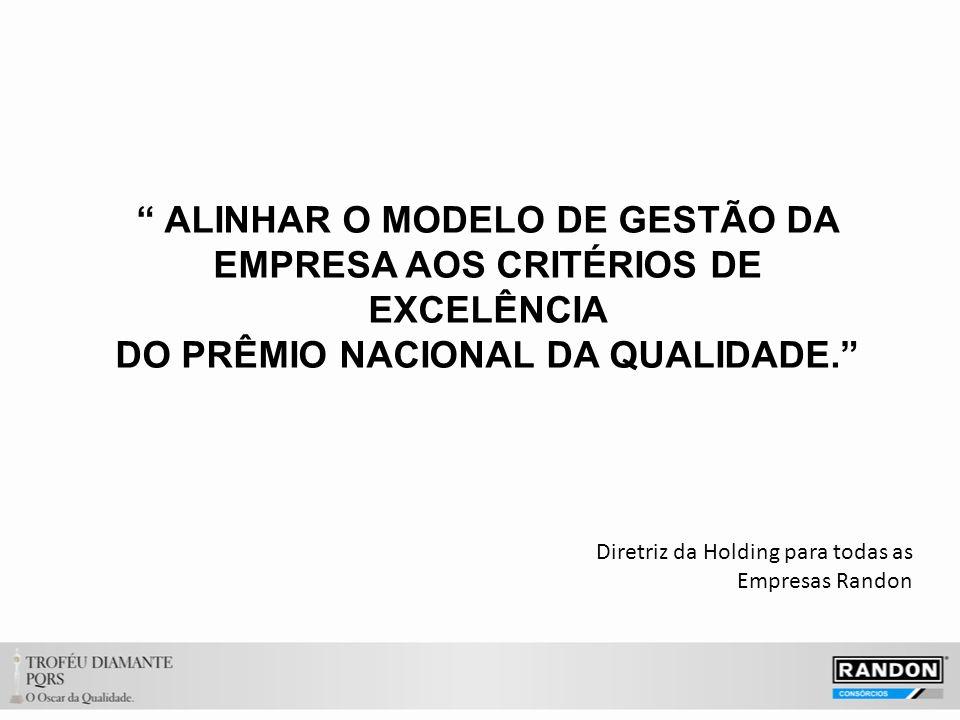 ALINHAR O MODELO DE GESTÃO DA EMPRESA AOS CRITÉRIOS DE EXCELÊNCIA DO PRÊMIO NACIONAL DA QUALIDADE.