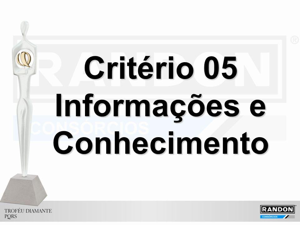Critério 05 Informações e Conhecimento