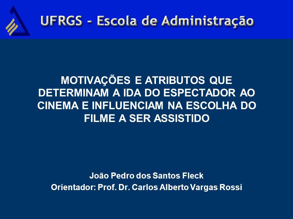 MOTIVAÇÕES E ATRIBUTOS QUE DETERMINAM A IDA DO ESPECTADOR AO CINEMA E INFLUENCIAM NA ESCOLHA DO FILME A SER ASSISTIDO João Pedro dos Santos Fleck Orie