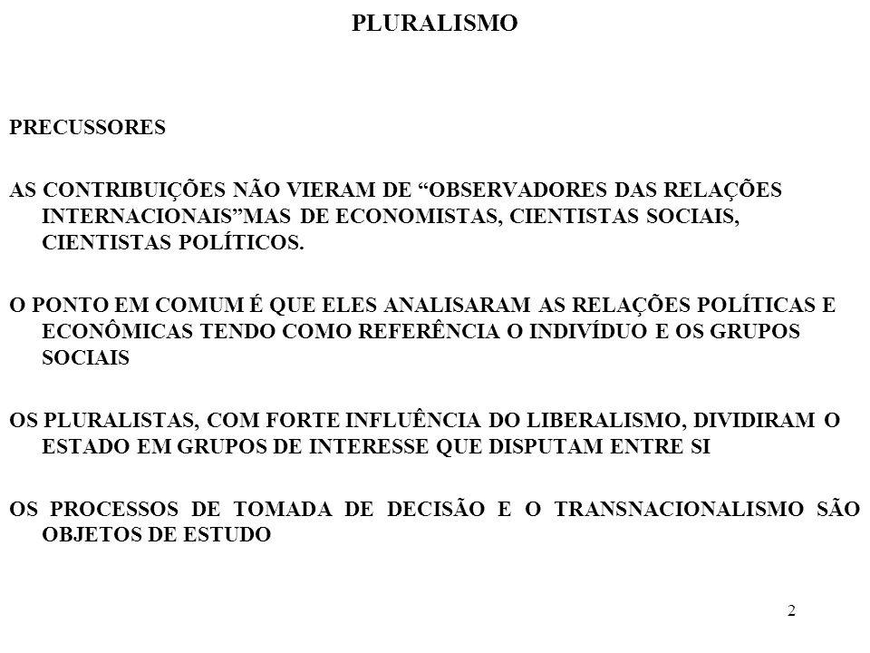 13 PLURALISMO TRANSNACIONALISMO INTEGRAÇÃO SEGUNDO MITRANY, A SOCIEDADE MODERNA CRIOU UM NÚMERO ELEVADO DE PROBLEMAS TÉCNICOS, QUE SERIAM MELHOR RESOLVIDOS POR EXPERTS QUE POR POLÍTICOS A RAMIFICAÇÃO DE COLABORAÇÕES TÉCNICAS LEVA AO PROCESSO DE INTEGRAÇÃO A INTEGRAÇÃO SERIA VISTA, ENTÃO, COMO UM JOGO DE SOMA POSITIVA, ONDE TODOS GANHAM OS SUCESSOS DA CECA E DA CEE EVIDENCIARAM A VALIDADE DA TEORIA FUNCIONALISTA