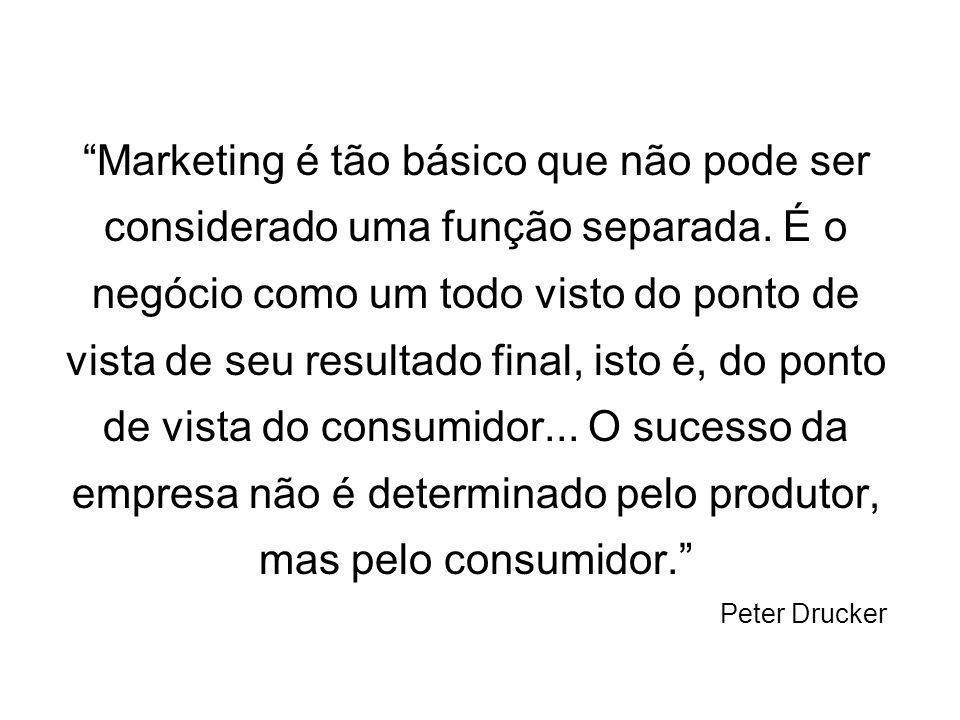 Marketing é tão básico que não pode ser considerado uma função separada.