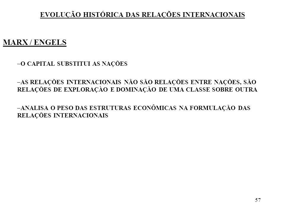 58 TRÊS GRANDES PARADIGMAS CLAUSEWITZ/VITORIA/MARX PODE-SE AFIRMAR A EXISTÊNCIA DE UMA TEORIA DAS RELAÇÕES INTERNACIONAIS.