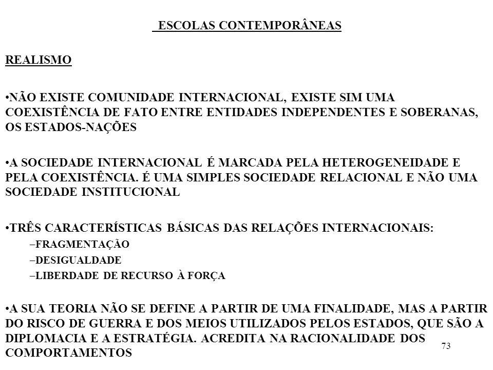 74 ESCOLAS CONTEMPORÂNEAS TRANSNACIONALISMO MARCEL MERLE A POLÍTICA EXTERNA, COM EXPRESSÃO AUTÔNOMA, E O CONCEITO DE SOBERANIA TEM PERDIDO IMPORTÂNCIA INTERDEPENDÊNCIA ENTRE POLÍTICA EXTERNA E POLÍTICA INTERNA A POLÍTICA INTERNACIONAL É HOJE, UMA VEZ ASSEGURADA A ORDEM MUNDIAL NO PLANO MILITAR, A EXPRESSÃO MAIS DIRETA DA SUA VONTADE DE INTEGRAR NA ECONOMIA MUNDIAL EM FUNÇÃO DOS SEUS INTERESSES COMO BASTAM DUAS NAÇÕES PARA ASSEGURAR A ORDEM MILITAR INTERNACIONAL, O PAPEL DA POLÍTICA INTERNACIONAL SE VOLTA PARA A POLÍTICA ECONÔMICA