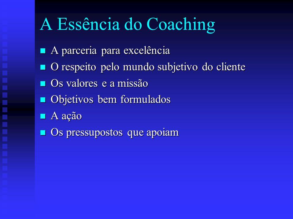 O coach leva você de onde está para onde quer estar. O coach ajuda as pessoas a fazer o que não querem, da maneira que querem para obter o que querem.